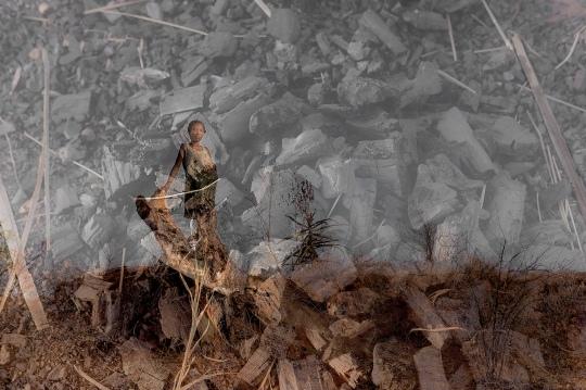 Lina, enceinte de 6 mois, fait vivre sa famille en cou- pant des Arbres pour les transformer en charbon de bois. le charbon de bois est la source principale des Malagasy pour la cuisson au feu. la santé de l'envi- ronnement détermine les conditions de vie et les défis que nous laissons aux prochaines générations. avec la population grandissante et une déforesta- tion alarmante, le futur de beaucoup d'enfants est incertain.